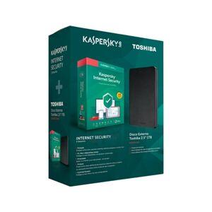 Bundle - Kaspersky Internet Security 2019 3 User + Disco Externo Toshiba 2,5'' 1TB Preto