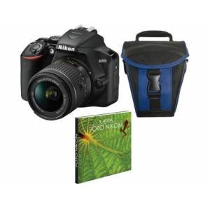 Kit Máquina Fotográfica Reflex NIKON D3500 + 18-55 mm ED II (24.78 MP - Sensor DX - ISO: 100 a 25600)
