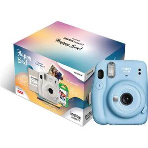 Kit Máquina Fotográfica Instantânea Instax Mini 11 Happy Box Sky Blue