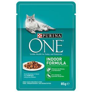 Purina One 24x85g Purina One Indoor atum e feijão verde gatos