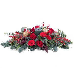 Interflora Noel - Centro Natalício Horizontal em tons vermelhos   Interflora
