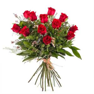 Interflora 12 Rosas Vermelhas de Pé Longo   Interflora