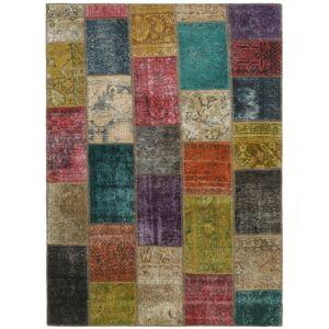 Nain Trading Tapete Persa Patchwork 199x138 Brown/Rust (Mão-atada, Pérsia / Irão, Lã)