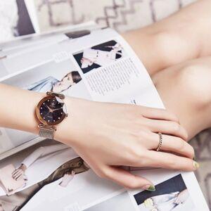 WWOOR 8869 mulheres relógio de quartzo pulseira de aço inoxidável relógio do esporte relógio de pulso 3ATM à prova d 'água moda Casual feminino relógios