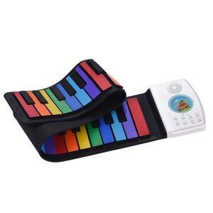 Multifuncional 49 Teclas Digital Piano Portátil Rolar Piano