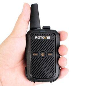 Retevis RT15 Portátil Walkie Talkie UHF 400-470 MHz 16-Channel 2-Way Rádio CTCSS / DCS TOT VOX Scan Intercomunicadores Altifalantes Mic