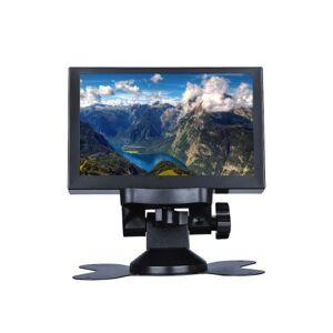 S501H Mini 5 polegadas Monitor 5CH VGA / BNC / AV / HD / Ypbpr Tela de Exibição LCD 800 * 480 Linha Cruzada para DVR, DVD, PC, CCD, CCTV, câmera Plug UE