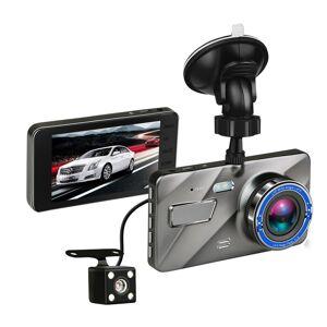 4 Polegadas HD 1080P Câmera de Lente Dupla Visão Noturna Gravação em Loop 170 Graus Carro DVR Traço de Vídeo Cam Gravador Traseiro Dianteiro