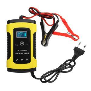Enusic ™ 12V 6A Reparo de pulso LCD Bateria Carregador para carro motocicleta Ácido de chumbo Bateria Agm Gel Wet