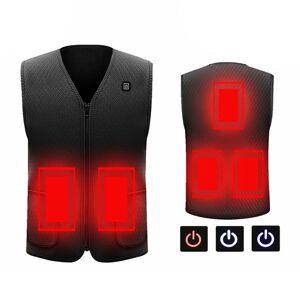 Colete elétrico Jaqueta de pano aquecida USB Térmico aquecido inverno Esquentador de corpo quente