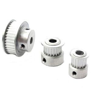 16/20/36T GT2 Polia de Accionamento Momento de Alumínio para DIY Impressora 3D
