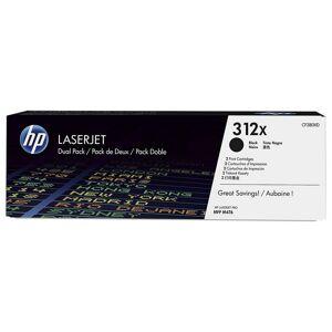 HP 312X Tóner Original Laserjet Pack Ahorro 2 Cartuchos Alta Capacidad Negro