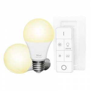 Trust Zigbee Set 2 bombillas LED + Control Remoto ZLED-2709R
