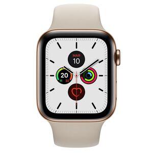 Apple Watch Series 5 GPS 44mm + Cellular Aço Inoxidável Dourado com Bracelete Desportiva Pedra