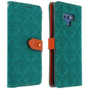 Avizar Capa Livro Oriental Azul para Samsung Galaxy Note 9