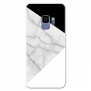 Unique Be Unique Funda Gel Marmol Blanco y Negro para Samsung Galaxy S9