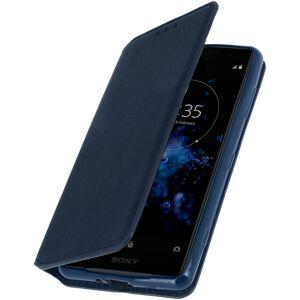 Avizar Funda Libro Azul Oscuro para Sony Xperia XZ2 Compact