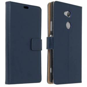 Avizar Funda Tipo Libro Billetera Azul Oscuro para  Sony Xperia XA2 Ultra
