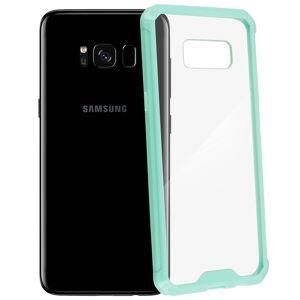 Avizar Funda Trasera Transparente / Bordes Reforzados Azul para Samsung Galaxy S8
