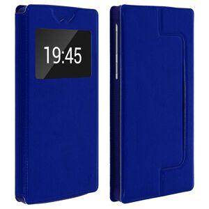 "Clappio Funda Cartera con Ventana Azul para Smartphone 6.2"""