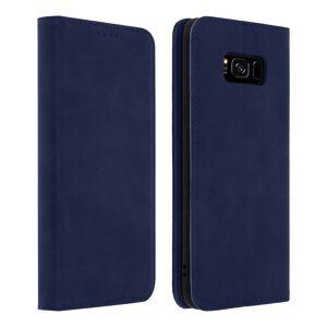 Avizar Funda Tipo Libro Billetera Vintage Azul para Samsung Galaxy S8
