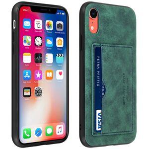 Avizar Funda Trasera de Silicona/Piel Sintética Azul Efecto Vintage para Apple iPhone XR