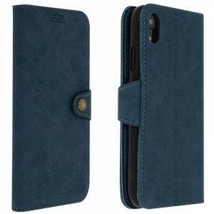 Avizar Funda Cartera Vintage Azul para Apple iPhone XR