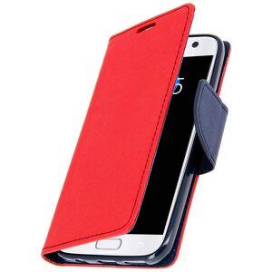Avizar Fancy Style Funda Libro Roja para Samsung Galaxy S7