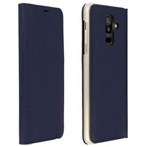 Avizar Flip Book Cover Funda Cartera Azul Oscuro para Samsung Galaxy A6 Plus