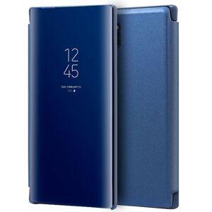 Cool Funda Flip Cover Clear View Azul para Samsung Galaxy Note 10 Plus
