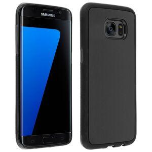 Avizar Funda Protectora de Silicona Negra con Ventosa para Samsung Galaxy S7 Edge