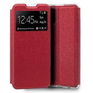 Cool Funda Flip Cover Liso Rojo para Samsung Galaxy Note 10 Lite