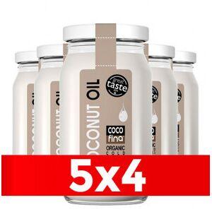 Cocofina Limited Pack 5 x 4 Óleo de Coco Virgem Orgânico Cocofina Recipiente de Vidro 350 ml