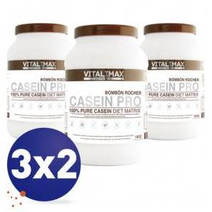 Vitalimax Nutrition Pack 3x2 Casein Pro 100% Pure Casein Diet Matrix Sabor Bombón Rocher 1 kg