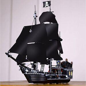 lightinthebox Black Pearl Blocos de Construir Blocos Militares Conjunto de construção de brinquedos 804 pcs Piratas Navio pirata Soldier compatível Legoing Requintado Estilo vintage Para Meninos Para Meninas