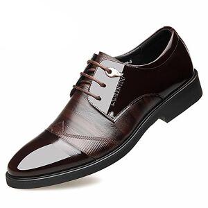 lightinthebox Homens Sapatos de couro Pele Napa Primavera / Outono & inverno Negócio Oxfords Caminhada Absorção de choque Preto / Marron / Casamento