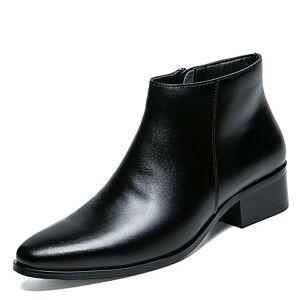 lightinthebox Homens Sapatos de couro Couro Ecológico Primavera / Outono & inverno Casual / Formais Botas Botas Curtas / Ankle Preto / Festas & Noite