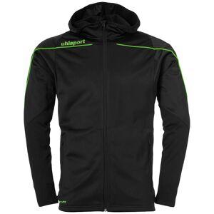 Uhlsport Stream 22 Track Hooded 116 cm Black / Fluo Green