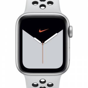 Nike Caixa de alumínio em Prateado Apple Watch Nike Series 5 (GPS + Cellular) with Nike Sport Band 40mm - Prateado