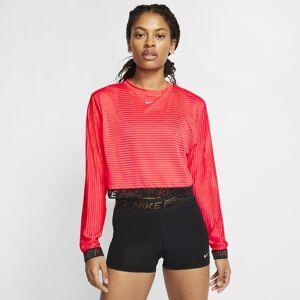 Nike Top de malha de manga comprida Nike Pro para mulher - Vermelho