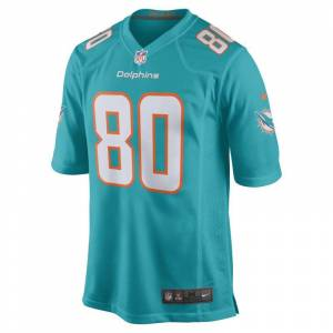 Nike Camisola de jogo de futebol americano NFL Miami Dolphins (Danny Amendola) para homem - Azul