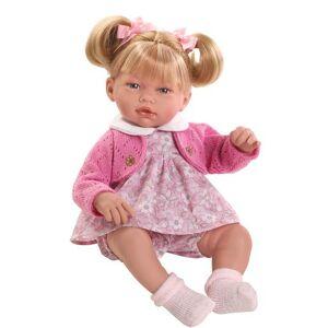MU�ECAS GUCA Boneca Bebé Alba 38 cm Casaco Rosa e Vestido