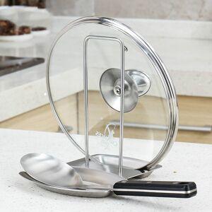 304 stainless steel multi-function kitchen racks pot lid rack scoop spoon storage rack and water tray LU4197