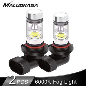 2PCS LED H7 H11 H1 Led Fog Light Bulb 2400LM 6000K LED H8 HB4 HB3 H3 Car Fog Lamp Running Signal Light 12V 24V Car Accessories