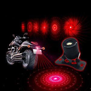 YOSOLO Motorcycle Car External Fog Lamp 6 Pattern Change Anti-Collision Laser Warning Light Decoration Lamp Car Styling