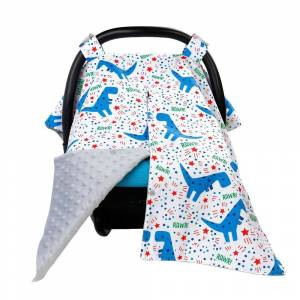 Thicken Carseat Canopy and Nursing Cover Large Infant Car Seat Canopy for Girl & Boy Best Baby Shower Gift for Breastfeeding Mom