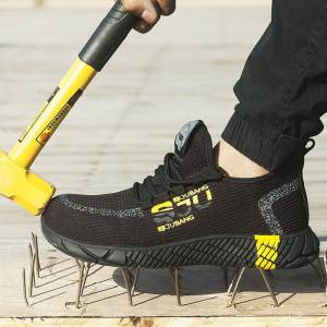 2020 New Breathable Mesh Safety Shoes Men Light Sneaker Indestructible Steel Toe Soft Anti-piercing Work Boots Plus size 37-48