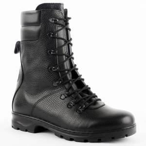 demiseason genuine leather lace-up black army ankle boots men high shoes flat military boots 5025/1 WA