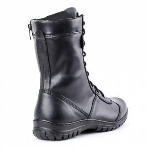 demiseason genuine leather lace-up black army ankle boots men high shoes flat military boots 5023 / 11WA