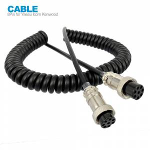 8 Pin Mic Microphone Extension Cable FOR YAESU ICOM KENWOOD CB HAM Radio Walkie Talkie Accessories Female to Female